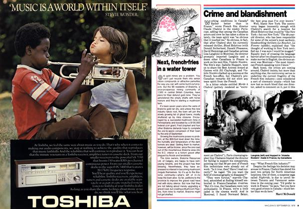 Article Preview: Crime and blandishment, September 1978 | Maclean's