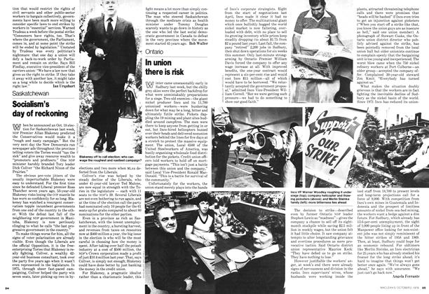 Article Preview: In union there is risk, October 1978 | Maclean's
