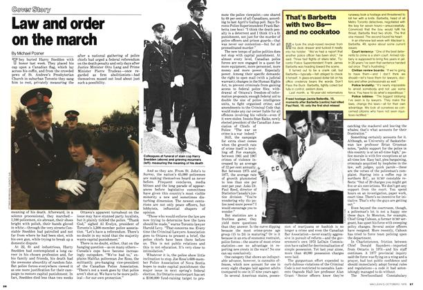 Article Preview: Law and order on the march, October 1978 | Maclean's