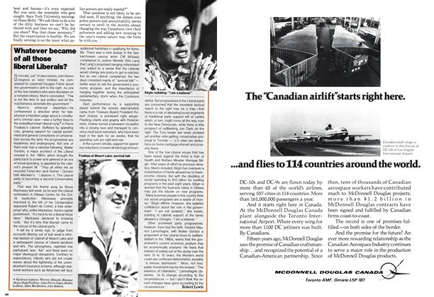 Article Preview: Whatever became of all those liberal Liberals?, October 1978 | Maclean's