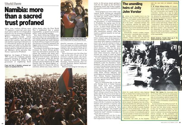 Article Preview: Namibia: more than a sacred trust profaned, October 1978 | Maclean's