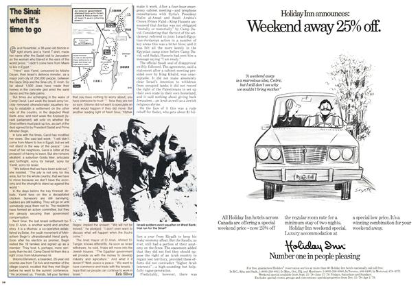 Article Preview: The Sinai: when it's time to go, October 1978 | Maclean's