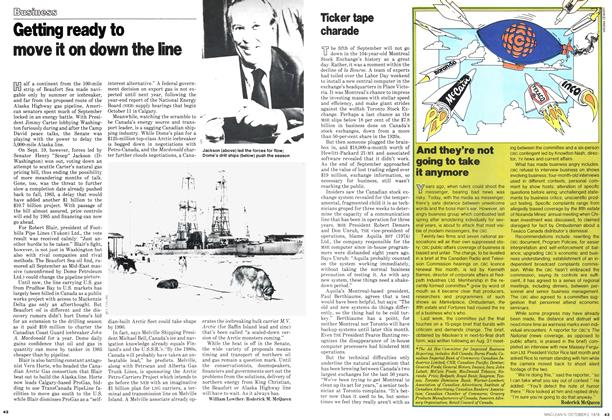 Article Preview: Ticker tape charade, October 1978 | Maclean's
