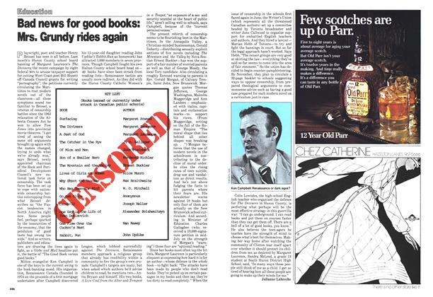 Article Preview: Bad news for good books: Mrs. Grundy rides again, October 1978 | Maclean's