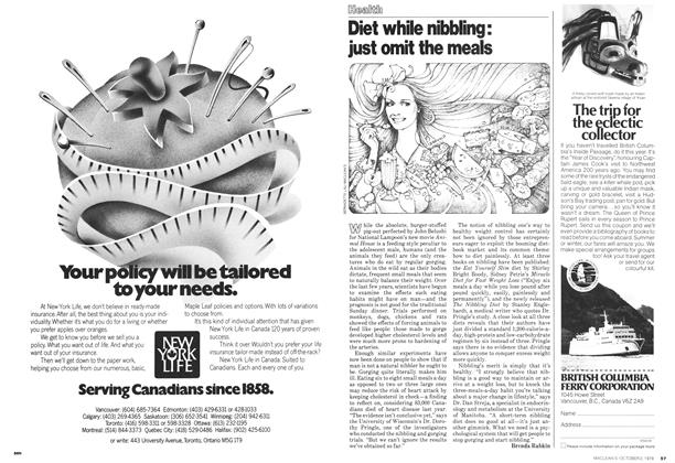 Article Preview: Diet while nibbling: just omit the meals, October 1978 | Maclean's
