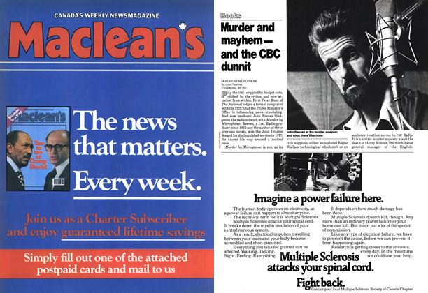 Article Preview: Murder and mayhem— and the CBC dunnit, October 1978 | Maclean's