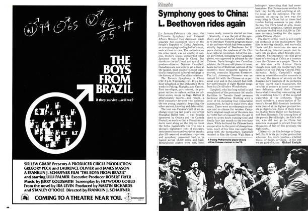 Article Preview: Symphony goes to China: L. Beethoven rides again, October 1978 | Maclean's