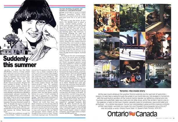 Article Preview: Suddenly this summer, October 1978 | Maclean's