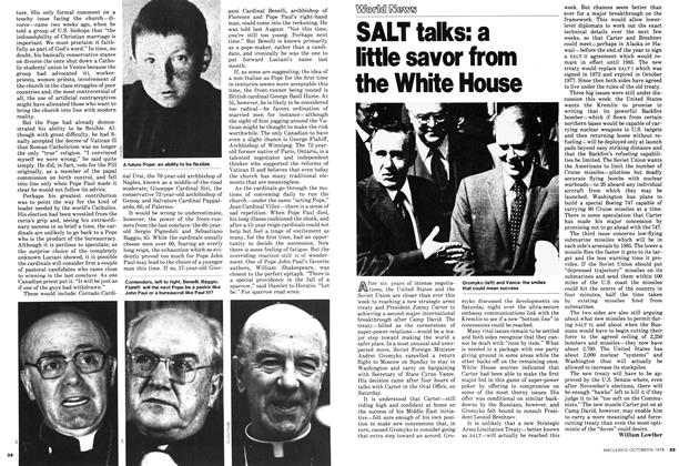 Article Preview: SALT talks: a little savor from the White House, October 1978 | Maclean's