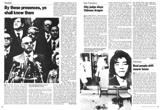Article Preview: By these presences, ye shall know them, October 1978 | Maclean's