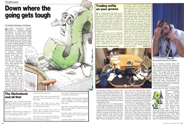 Article Preview: Trading softly on your greens, October 1978 | Maclean's