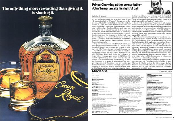 Article Preview: Prince Charming at the corner table— John Turner awaits his rightful call, October 1978 | Maclean's