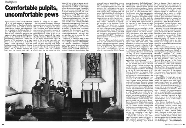 Article Preview: Comfortable pulpits, uncomfortable pews, October 1978 | Maclean's