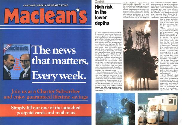 Article Preview: High risk in the lower depths, October 1978 | Maclean's