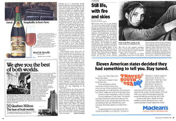Article Preview: Still life, with fire and skies, October 1978 | Maclean's