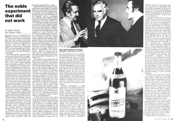 Article Preview: The noble experiment that did not work, October 1978 | Maclean's