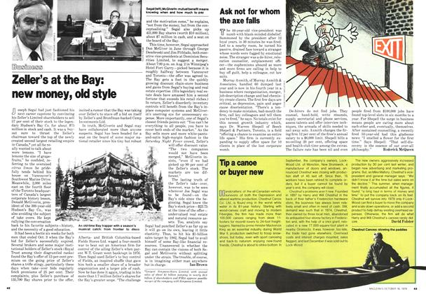 Article Preview: Zeller's at the Bay: new money, old style, October 1978 | Maclean's