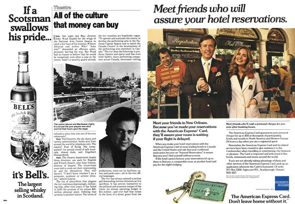 Article Preview: All of the culture that money can buy, October 1978 | Maclean's