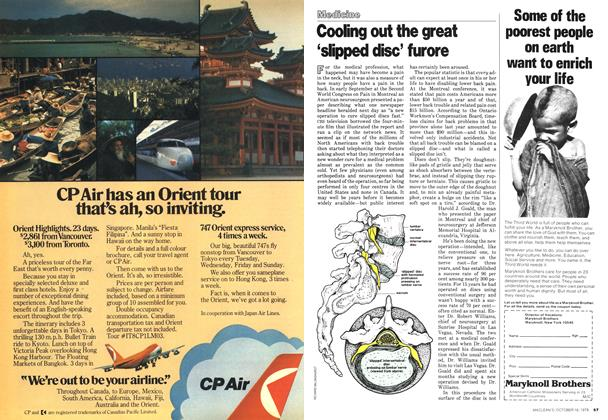 Article Preview: Cooling out the great 'sipped disc' furore, October 1978 | Maclean's