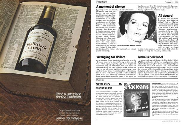 Article Preview: Preview, October 1978 | Maclean's