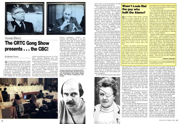 Article Preview: The CRTC Gong Show presents... the CBC!, October 1978 | Maclean's