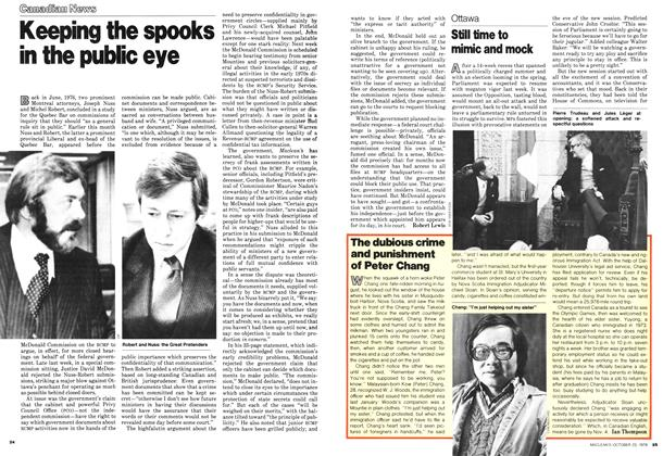 Article Preview: Still time to mimic and mock, October 1978 | Maclean's