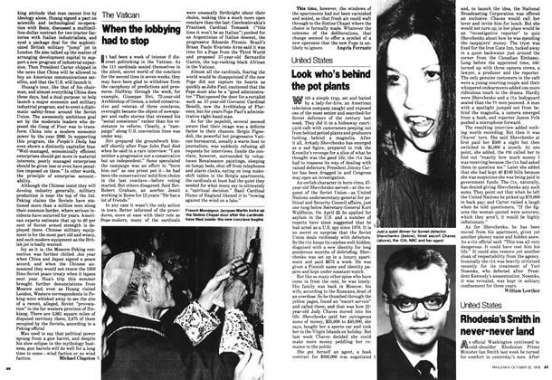 Article Preview: When the lobbying had to stop, October 1978 | Maclean's