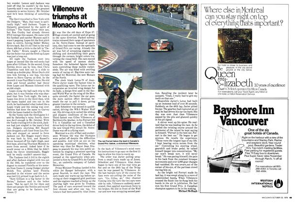 Article Preview: Villeneuve triumphs at Monaco North, October 1978 | Maclean's