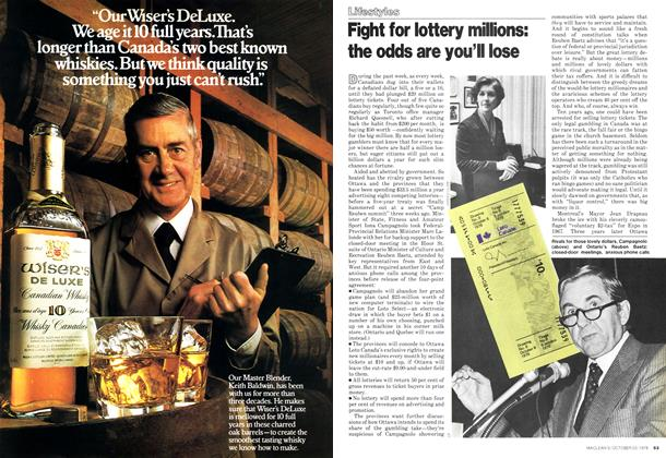 Article Preview: Fight for lottery millions: the odds are you'll lose, October 1978 | Maclean's