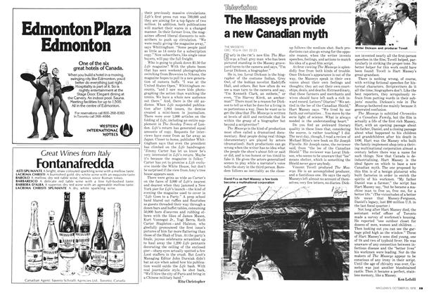 Article Preview: The Masseys provide a new Canadian myth, October 1978 | Maclean's