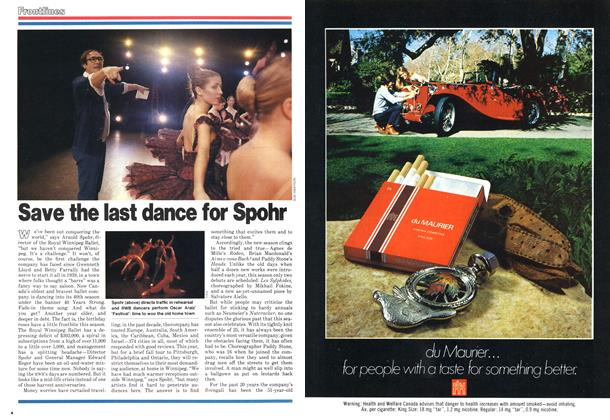 Article Preview: Save the last dance for Spohr, October 1978 | Maclean's