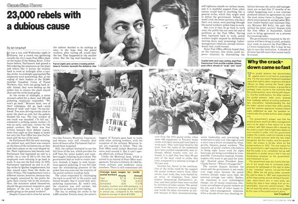 Article Preview: 23,000 rebels with a dubious cause, October 1978 | Maclean's