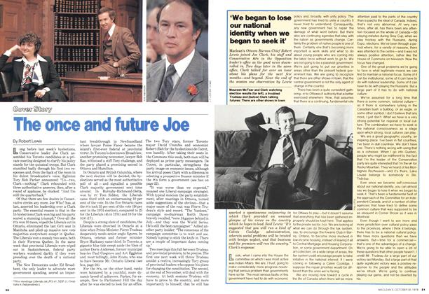 Article Preview: The once and future Joe, October 1978 | Maclean's