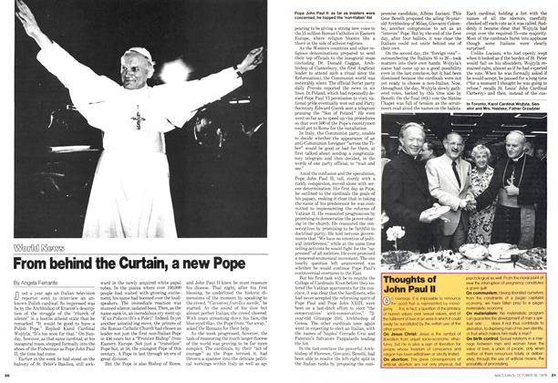Article Preview: From behind the Curtain, a new Pope, October 1978 | Maclean's
