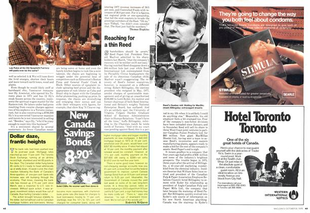 Article Preview: Reaching for a thin Reed, October 1978 | Maclean's