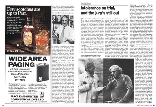 Article Preview: Intolerance on trial, and the jury's still out, October 1978 | Maclean's
