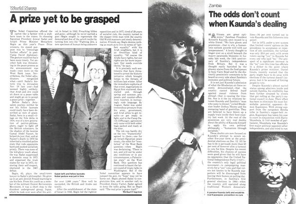 Article Preview: The odds don't count when Kaunda's dealing, November 1978 | Maclean's