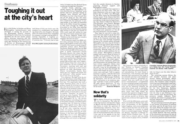 Article Preview: Now that's solidarity, November 1978 | Maclean's