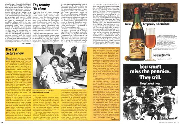 Article Preview: The first picture show, November 1978 | Maclean's