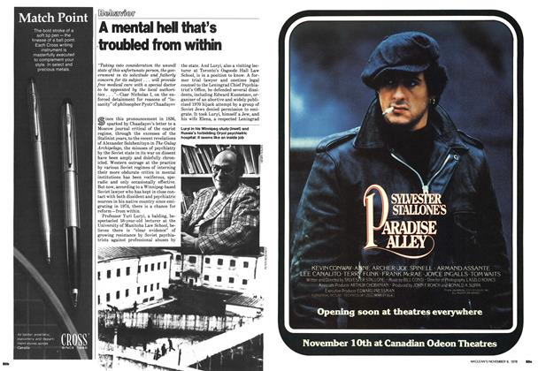 Article Preview: A mental hell that's troubled from within, November 1978 | Maclean's