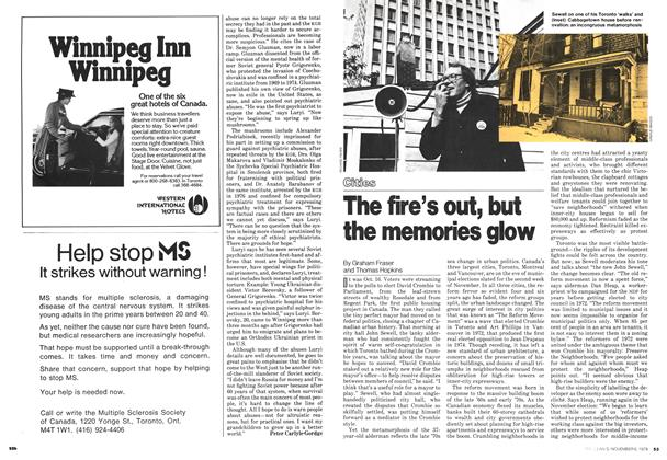 Article Preview: The fire's out, but the memories glow, November 1978 | Maclean's