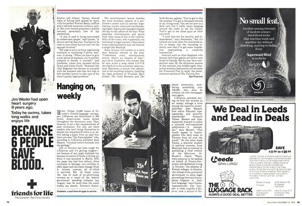 Article Preview: Hanging on, weekly, November 1978 | Maclean's