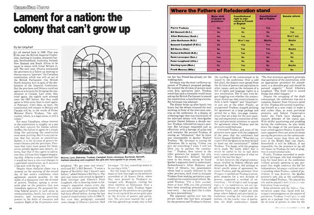Article Preview: Lament for a nation: the colony that can't grow up, November 1978 | Maclean's