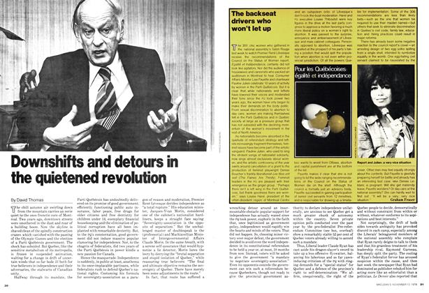 Article Preview: Downshifts and detours in the quietened revolution, November 1978 | Maclean's