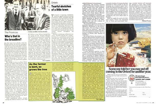 Article Preview: Who's that in the breadline?, November 1978 | Maclean's