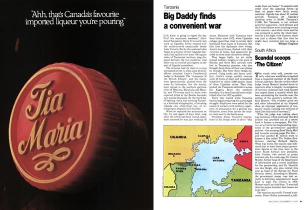 Article Preview: Big Daddy finds a convenient war, November 1978 | Maclean's