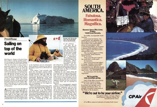 Article Preview: Sailing on top of the world, November 1978 | Maclean's