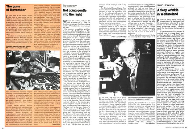 Article Preview: Not going gentle into the night, November 1978 | Maclean's