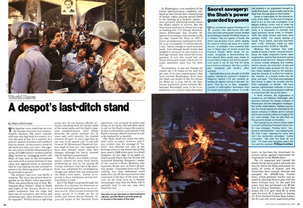 Article Preview: A despot's last-ditch stand, November 1978 | Maclean's
