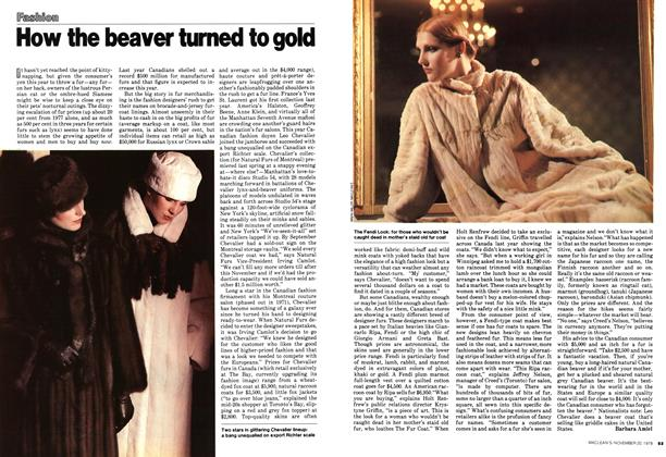Article Preview: How the beaver turned to gold, November 1978 | Maclean's